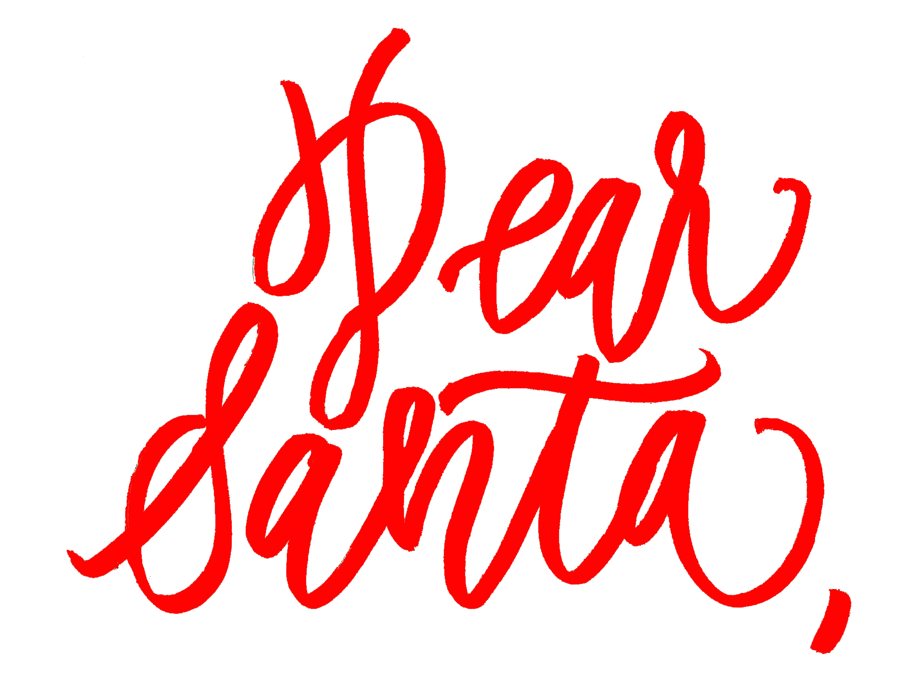 Dear Santa Printable - 1 Red