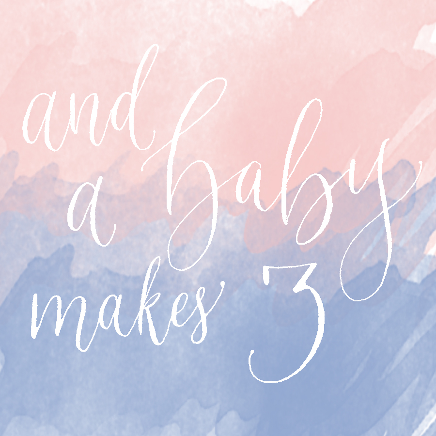 Social media baby announcement polished pen calligraphy