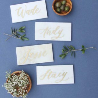 Marble and Gold Name Cards