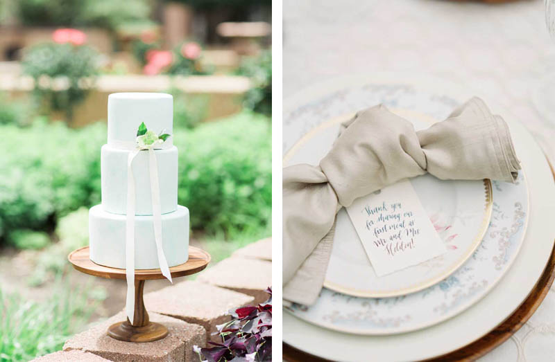 Stems of Dallas Styled Shoot Wedding Details Calligraphy